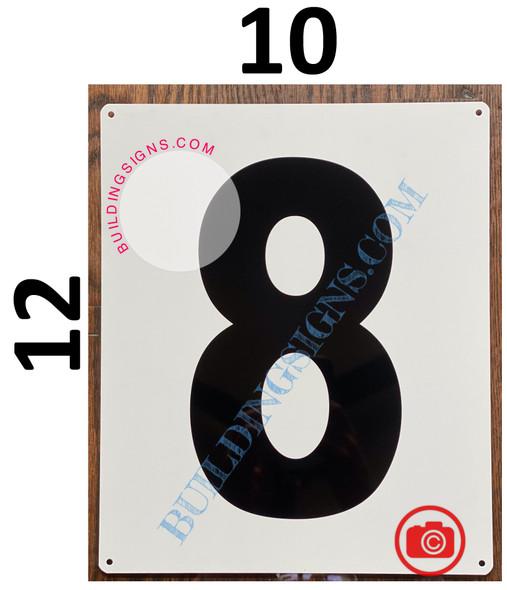 NUMBER 8 SIGN