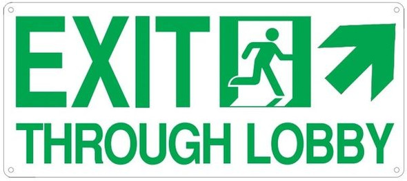 EXIT THROUGH LOBBY SIGN