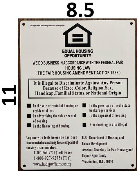 FEDERAL FAIR HOUSING SIGN