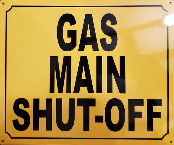 Gas Main Shut Off Signage