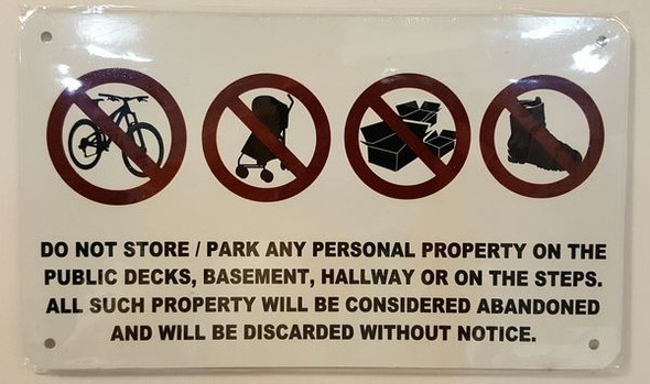 PUBLIC AREAS HPD SIGN