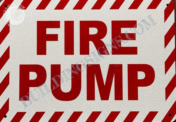 Sign FIRE Pump