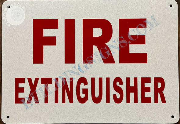 2pcs - Fire Extinguisher Signage