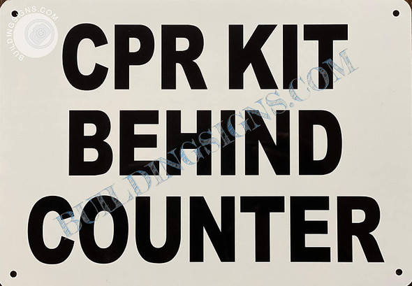 Sign CPR KIT Behind Counter