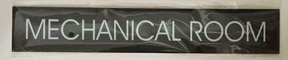 MECHANICAL ROOM SIGN - BLACK
