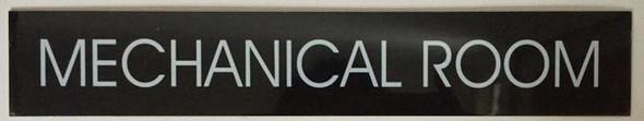 MECHANICAL ROOM SIGN Black