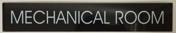 MECHANICAL ROOM SIGNAGE - BLACK