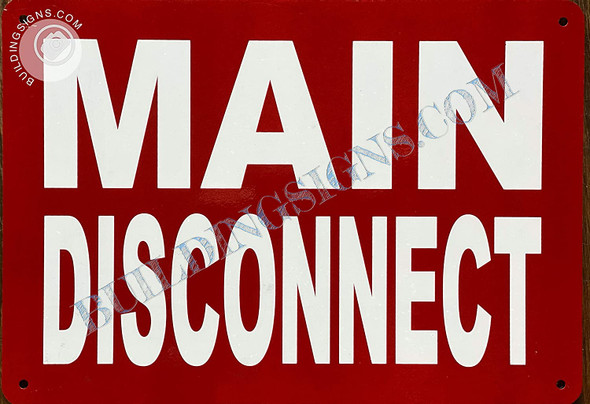 Main Disconnect Signage