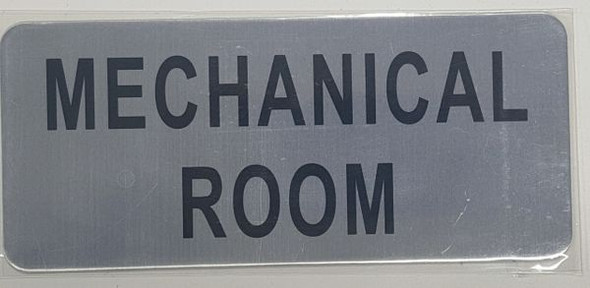 MECHANICAL ROOM SIGN - BRUSHED ALUMINUM - The Mont Argent Line