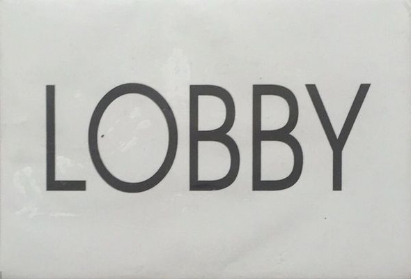 LOBBY SIGN for Building