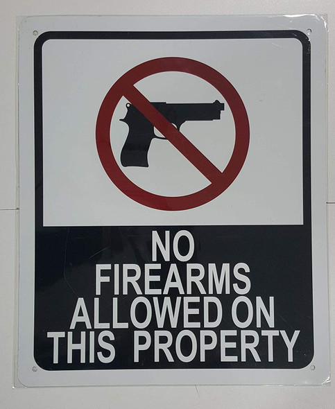 NO FIRE ARMS Allowed ON This Property Signage