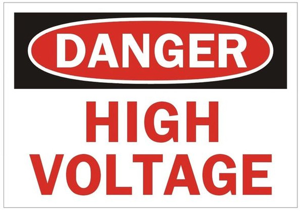 DANGER HIGH VOLTAGE SIGN (ALUMINUM SIGNS)