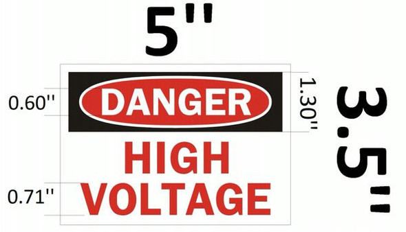 DANGER HIGH VOLTAGE SIGN White