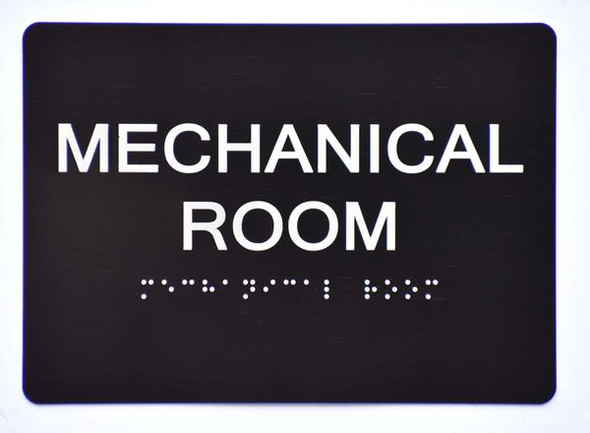 Mechanical Room Sign -Tactile Signs Tactile Signs   Ada sign
