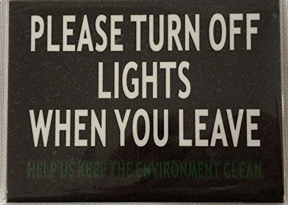 2 pcs -Please Turn Off Light When You Leave Signage
