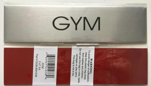 GYM SIGN Brushed Aluminum