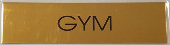 GYM SIGN Gold