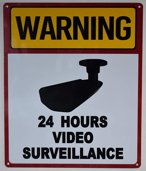 Warning 24 Hour Video Surveillance Signage