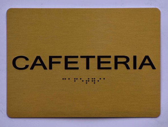 CAFETERIA Sign for Building