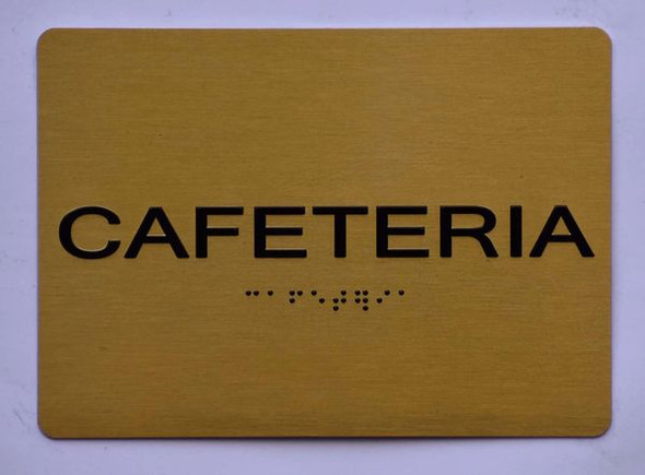 CAFETERIA Sign Gold