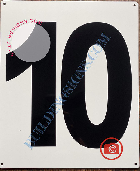 Large Number 10 Sign -Metal Sign - Parking LOT Number Sign