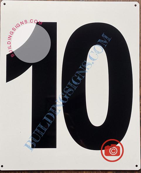 Large Number 10 Sign -Metal Sign - Parking LOT Number Sign