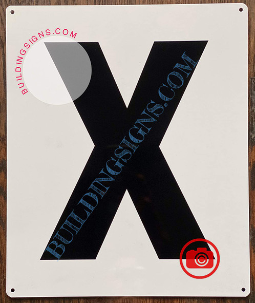 Large Letter X -Metal Sign - Parking LOT Sign