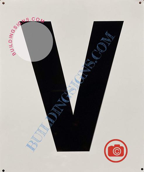 Large Letter V -Metal Sign - Parking LOT Sign