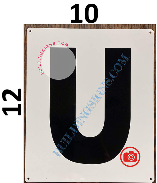 Large Letter U -Metal Signage - Parking LOT Signage