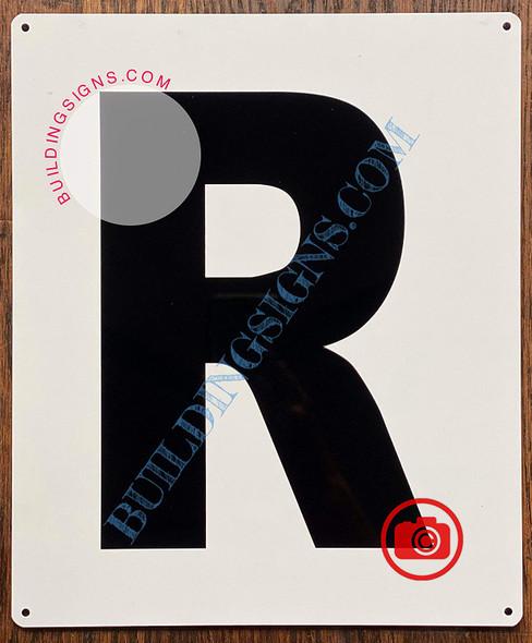 Large Letter R -Metal Sign - Parking LOT Sign