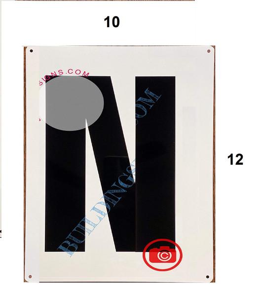Large Letter N -Metal Sign - Parking LOT Signage