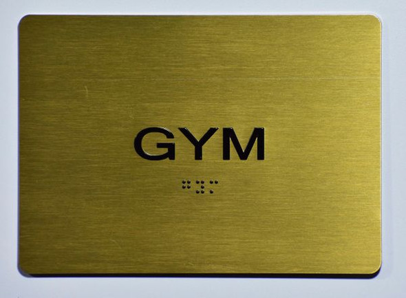 GYM Sign GOLD