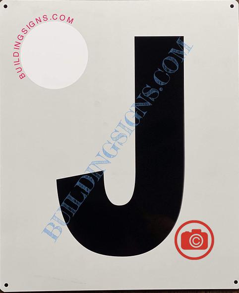 Large Letter J -Metal Signage - Parking LOT Signage