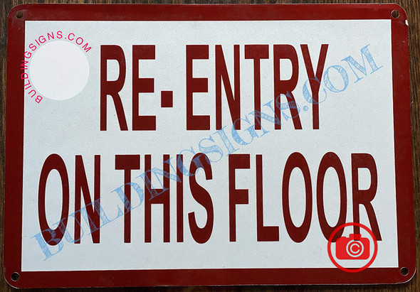 Re-Entry on This Floor Signage