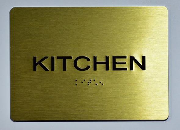 KITCHEN Sign GOLD