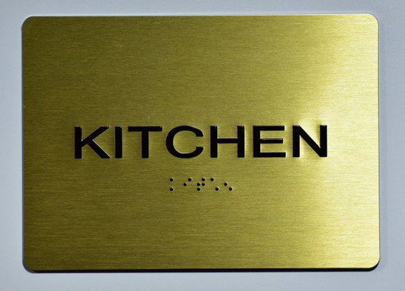 KITCHEN Sign -Tactile Signs Tactile Signs  Ada sign
