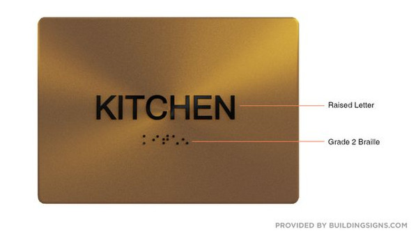 KITCHEN Sign -Tactile Signs Tactile Signs   Braille sign