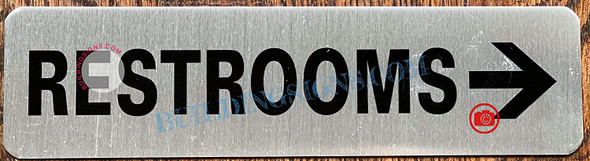 Restroom Right Arrow Signage