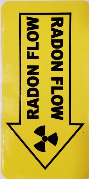 Radon Vent Sticker-ONE (1) Sheet