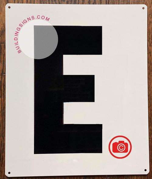 Large Letter E -Metal Sign - Parking LOT Sign