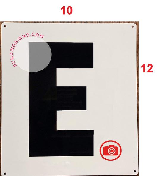 Large Letter E -Metal Sign - Parking LOT Signage
