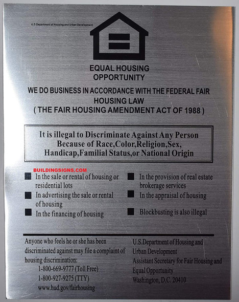 Equal HOUSING Opportunity Signage