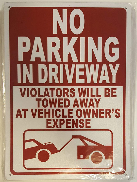 NO Parking in Driveway Signage