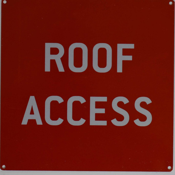Roof Access Signage