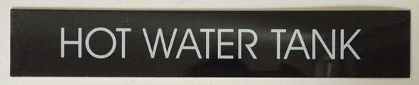 HOT WATER TANK SIGN for Building