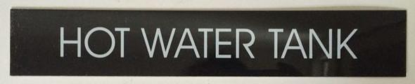HOT WATER TANK SIGN  BLACK