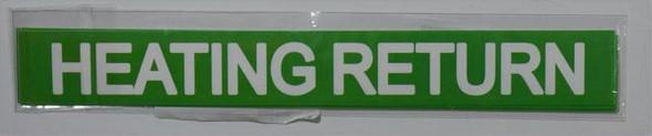HEATING RETURN SIGNAGE (STICKER ) GREEN