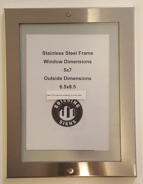 Buildingsigns.com Elevator Certificate Frame