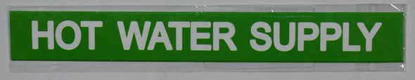 HOT WATER SUPPLY SIGN for Building