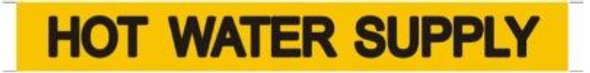 HOT WATER SUPPLY SIGN (STICKER ) (YELLOW)